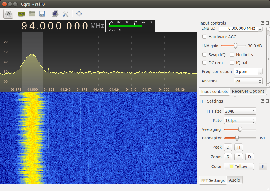 Getting started with SDR radio using DVB-T USB dongle and gqrx