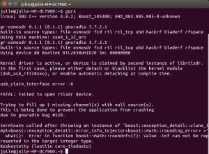starting gqrx with errors